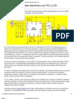 Termostato electrónico con PIC y LCD