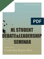 Debate Leadership Seminar