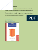 INDICAÇÃO DE LEITURA - FUNDAMENTOS TEÓRICOS E PRÁTICAS PEDAGÓGICAS
