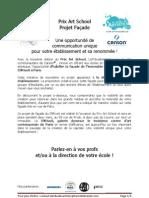 Projet Façade Prix Art School - 3ème édition