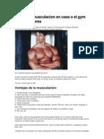 Rutina de Musculacion en Casa o El Gym de Pesas Libres