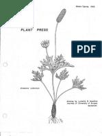 Winter - Spring 1983 The Plant Press ~ Arizona Natiave Plant Soceity