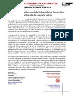 CGE A25-09-12 Propuesta Camaras Seguridad UPRRP para campaña política