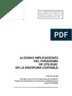 Algunas Implicaciones Del Paradigma de Utilidad en La Disciplina Contable