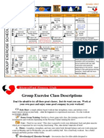 October 2012 Group Fitness Schedule