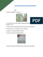 Preparación y Valoración de Soluciones de HCl y NaOH 0