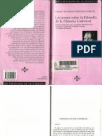 Lecciones sobre Filosfía de la Historia Universal de Hegel