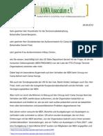 Offener Brief an das State Department - 08.08.12