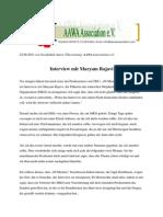 Interview-versuch mit Maryam Rajavi