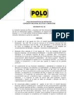 Decisión 022 sobre Convocatoria Congrso PDA