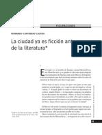 Contreras Castro, Fernando - La ciudad ya es ficción antes de la literatura