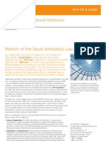 Alert Reform Saudi Arbitration Law