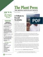 Fall 2007 The Plant Press ~ Arizona Natiave Plant Soceity