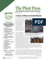 April 2008 The Plant Press ~ Arizona Natiave Plant Soceity