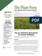 April 2009 The Plant Press ~ Arizona Natiave Plant Soceity