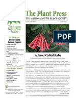 Spring 2010 The Plant Press ~ Arizona Natiave Plant Soceity