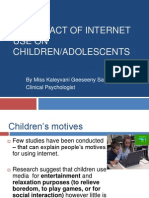 THE IMPACT OF INTERNET USE ON CHILDREN/ADOLESCENTS