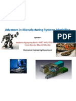 Advances in Manufacturing Systems Modelling