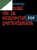 """""""Manual de la Entrevista Periodística"""", Juan Cantavella"""