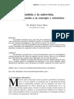 """""""Noticia y Entrevista"""", Yanes Mesa"""