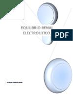 Equilibrio Renal Electrolitico.