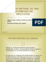 Historia Natural de Una Enfermedad No Infecciosa