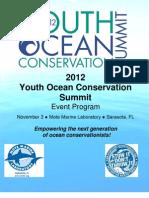 2012 Youth Ocean Conservation Summit Program