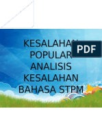 34595889 Kesalahan Popular Analisis Kesalahan Bahasa Stpm