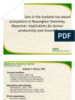 Transformations in the lowland rice-based ecosystems in Nyaungdon Township, Myanmar