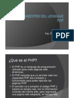 Fundamentos Del Lenguaje Php