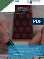 Graduate Certificate in Quality Assurance 2013