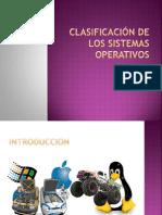 Clasificacion de Los Sistemas Operativos