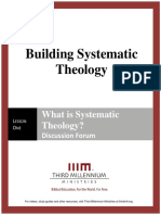 Building Systematic Theology - Lesson 1 - Forum Transcript