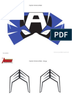 DM Avenger Captain America Mask Printable 0910