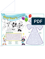 Mickey Friends New Year Activity Page Printable 1111