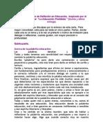 Carta a un Círculo de Reflexión en Educación.(5)- Acerca de la palabrita educación