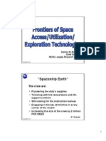 Frontiers of Space Access/Utilization/Exploration Technologies