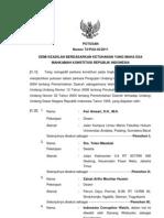 Putusan MK No 73 PUU 2011 Ttg Pengujian UU No. 12 Tahun 2008 Tentang Pemerintahan Daerah