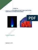 Feasibility Lpg Plant September 26, 2012 Revised Capacity