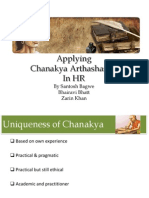 Applying Chanakya's Arthashastra in HR