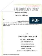 Paper 2 English Study Material Dinesh
