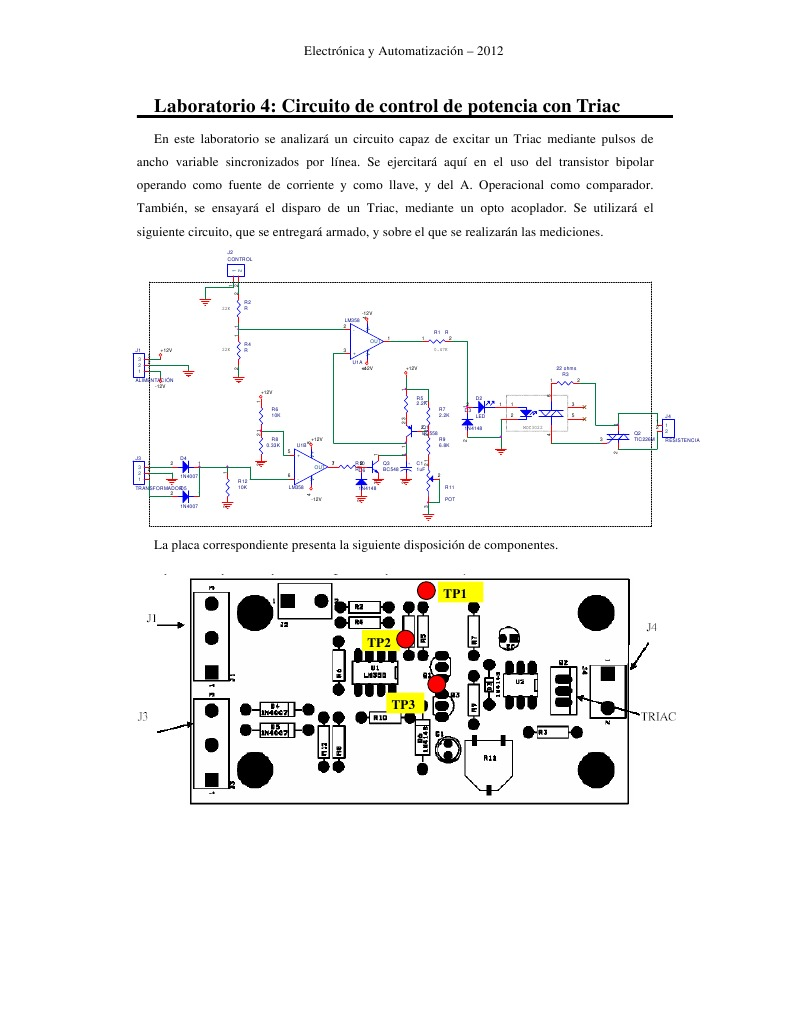 Circuito Optoacoplador : Circuito de control