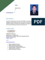 Hoja de Vida Jose Rodrigo Morera Torres