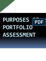 Purposes of Portfolio Assessment