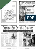 Versión impresa del periódico El mexiquense 27 septiembre 2012