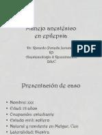 Manejo Anestésico para Cirugía de Epilepsia Refractaria