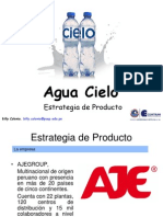 "Estrategia de producto del Agua Embotellada Natural ""Cielo"". Marketing"