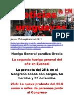 Noticias Uruguayas Jueves 27 de Setiembre Del 2012