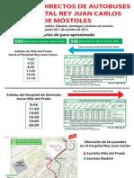 Horarios autobuses directos al Hospital Rey Juan Carlos De Móstoles