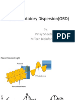 Optical Rotatory Dispersion(ORD)